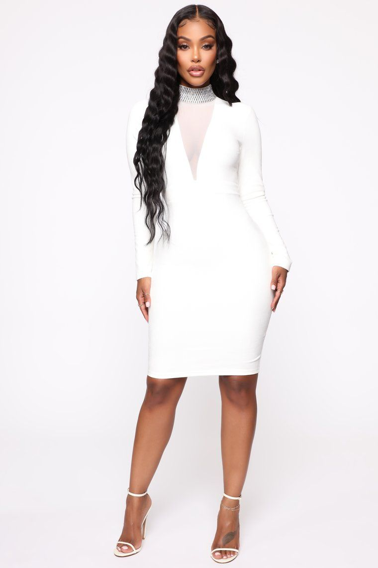 Another dream midi dress white in 2020 long sleeve