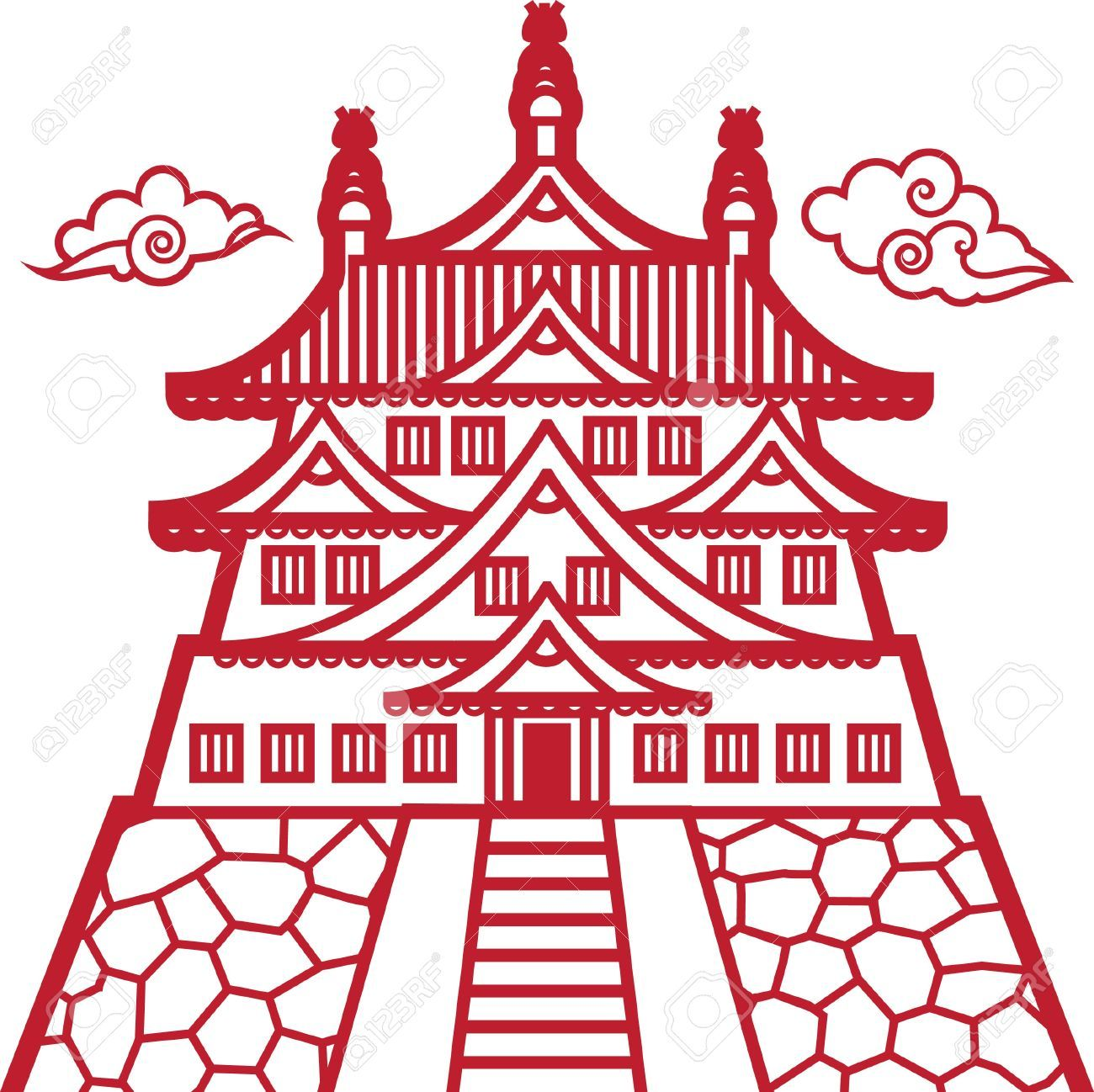 how to draw chinese pagoda - google search | pagodas | pinterest