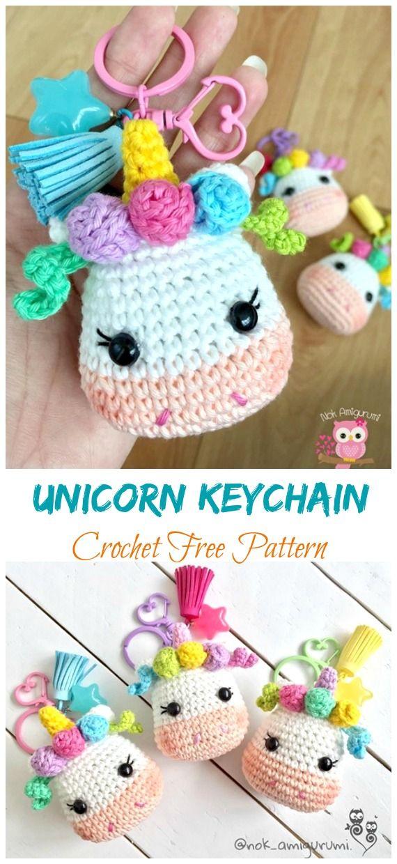Photo of Amigurumi Unicorn Keychain Crochet Free Patterns – Crochet & Knitting