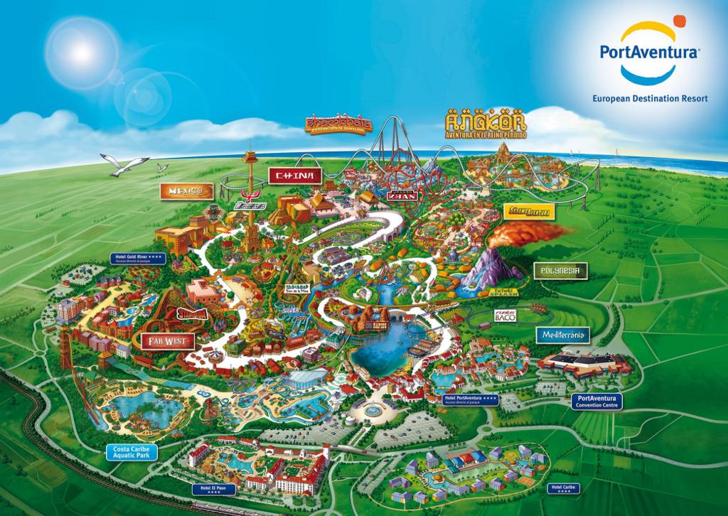 Mapa Port Aventura 2019.Mapa Interactivo Atracciones Portaventura 2014 V 2019 G