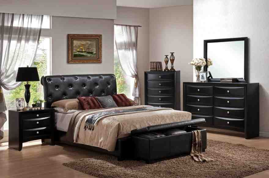 Black Leather Bedroom Furniture King Size Bedroom Sets King Bedroom Sets Bedroom Sets
