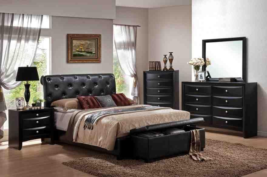 Black Leather Bedroom Furniture King Size Bedroom Sets Cheap