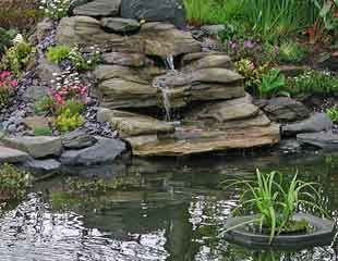 Preformed Waterfall In Grey Slate Garten Und Wasser Pinterest Slate Garden Ponds And Gardens