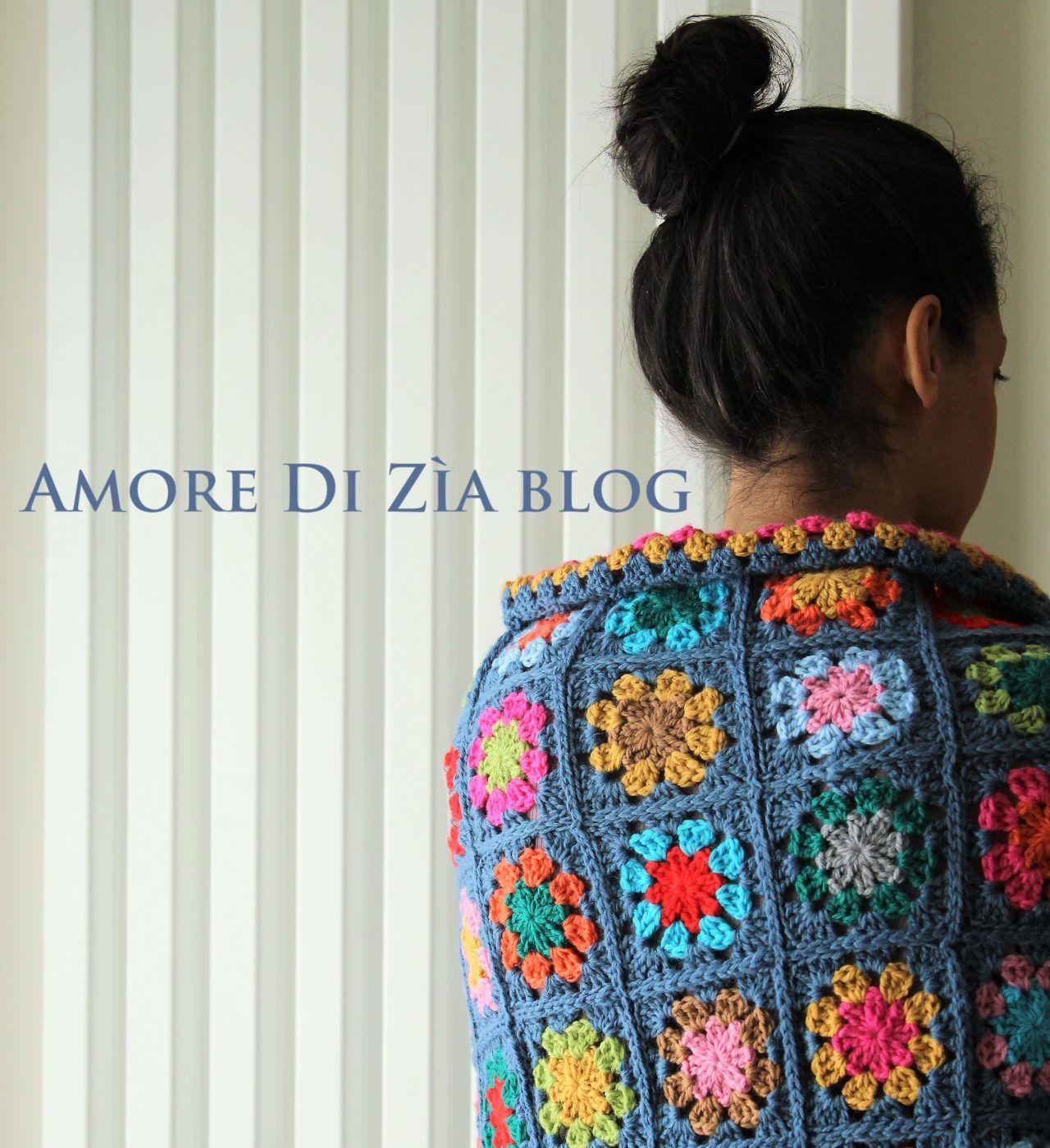Sciarpa Granny square | Amore Di Zìa blog