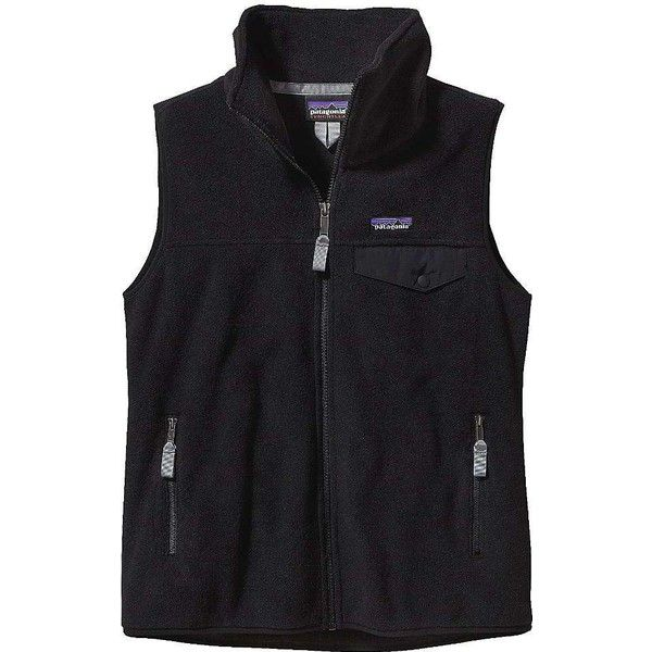 Patagonia Women's Snap-T Vest ($99) ❤ liked on Polyvore featuring black and patagonia