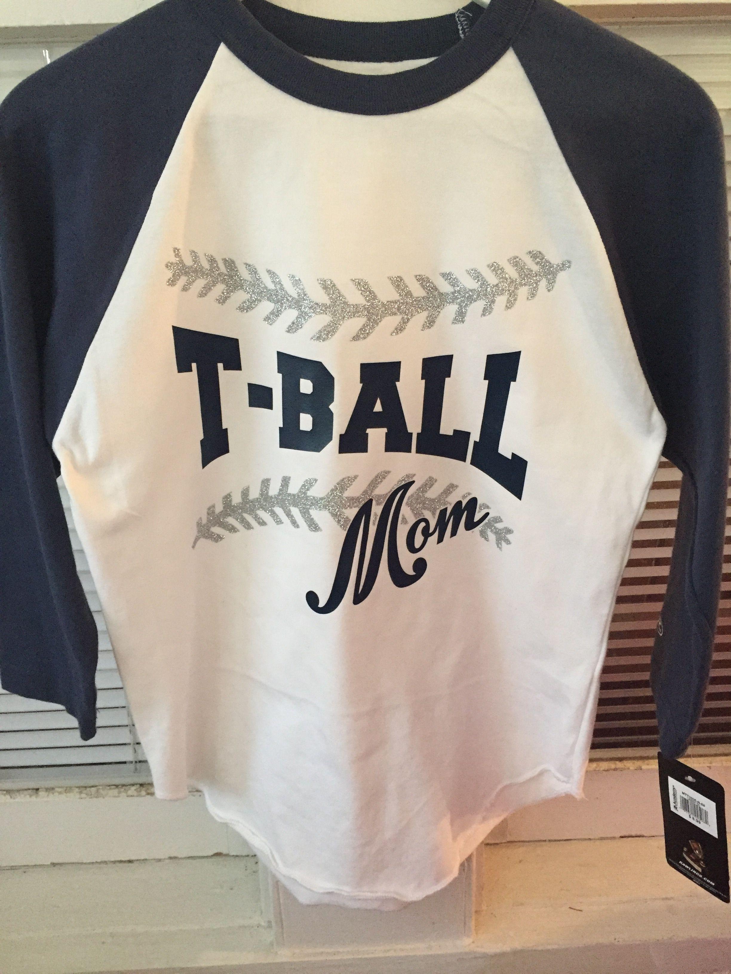 8ad10bdd Tball mom, tee ball, t-ball mom shirt   MaDe It   Sports mom shirts ...