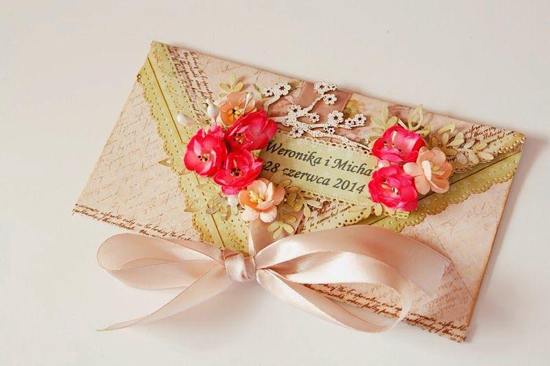 Ukwiecona kopertówka/ Envelope card with flowers