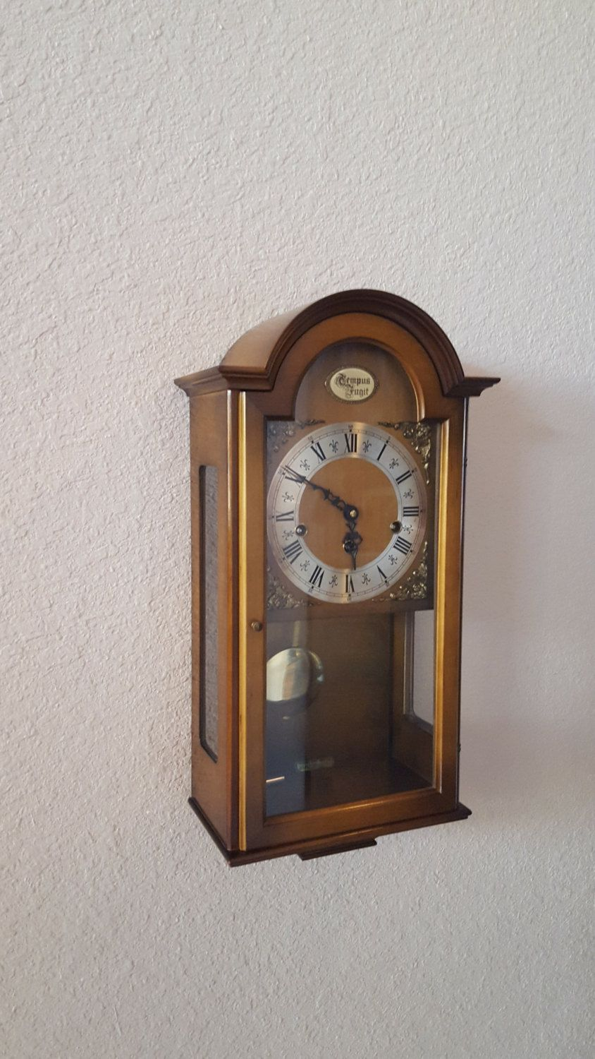 Vintage Antique Haid Brand West German Heirloom Quality Westminster Chiming Wall Clock Professionally R Chiming Wall Clocks Wall Clock Antique Wall Clock