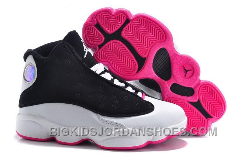 timeless design eb8f9 403e0 Kids Jordan 13 Hyper Pink Black White Online | Nike Jordan ...