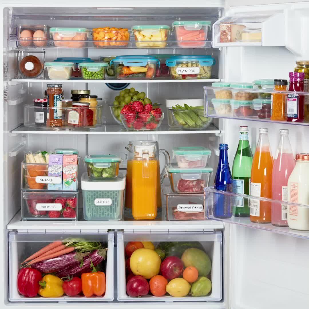 Wir haben alles, was Sie brauchen, um den Kühlschrank zu organisieren. Räumen Sie den Kühlschrank auf …