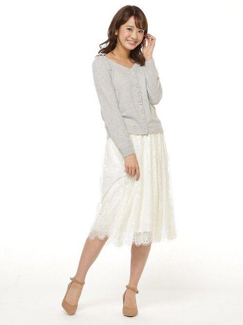 BURNEDESTROSE 本社WILLSELECTIONさんのスカート「ビンテージレースロングスカート(WILLSELECTION|ウィルセレクション)」を使ったコーディネート