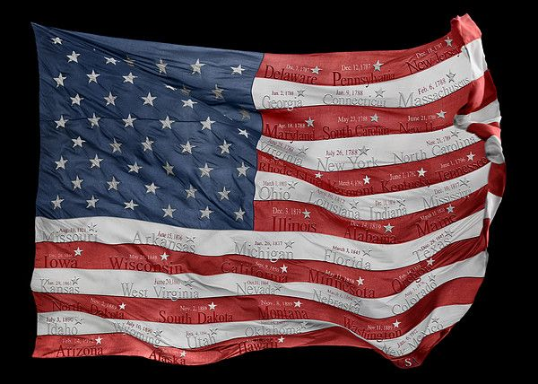 The American Flag And The Fifty States By Steven Michael Photography And Art Art Art For Sale Photography