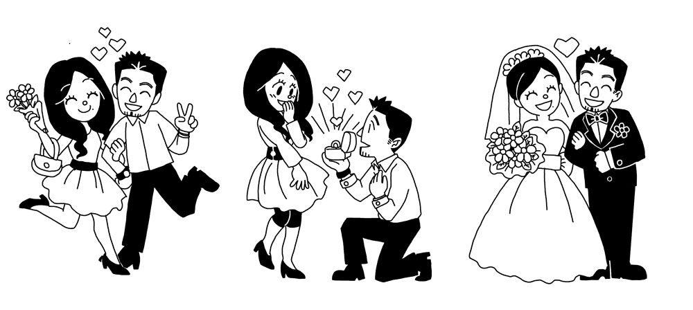 Mariage Blanc et Noir