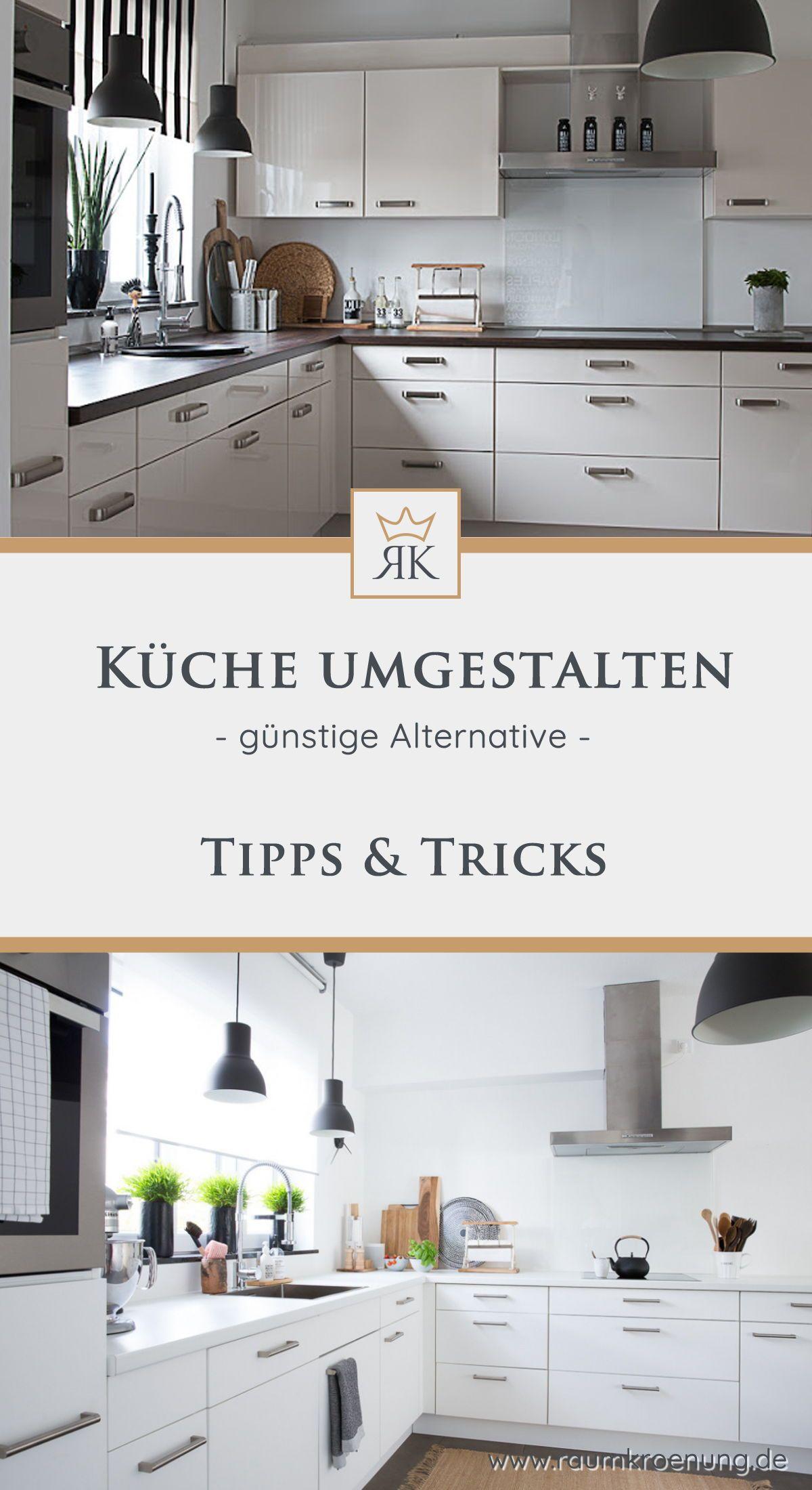 Küche günstig umgestalten: Küchenfronten erneuern ohne teuren Austausch ✓ |  Raumkrönung - Wohnblog, Wohnberatung & Einrichtungstipps | Küchen fronten,  Küche neu gestalten, Küche folieren