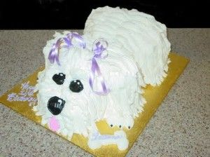 Puppy Shaped Cake