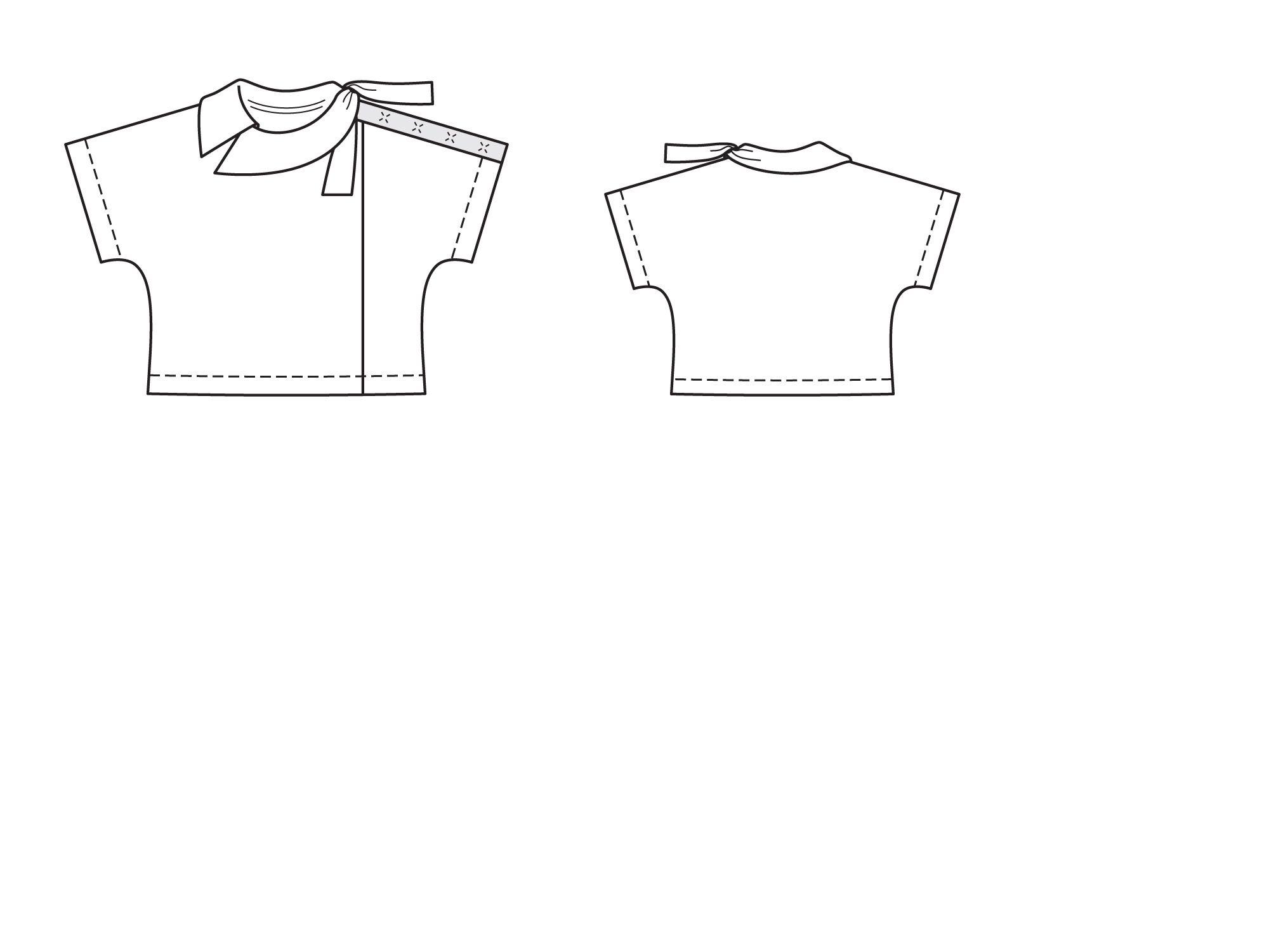 a71929f00aa Блузка с цельнокроеными рукавами - выкройка № 106 В из журнала 6 2015 Burda  – выкройки блузок на Burdastyle.ru