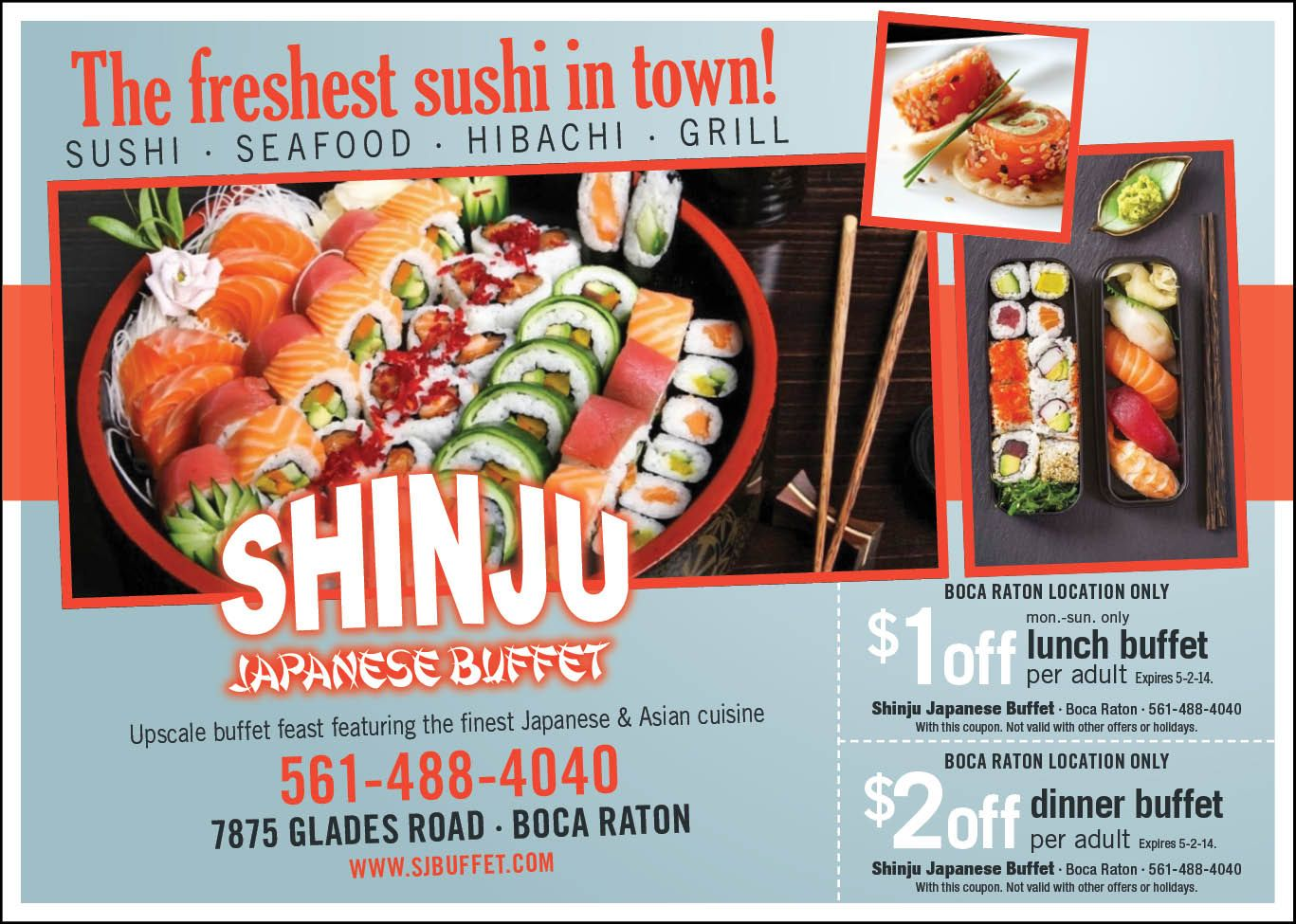 Check Out These Great Offers From Shinju Japanese In The