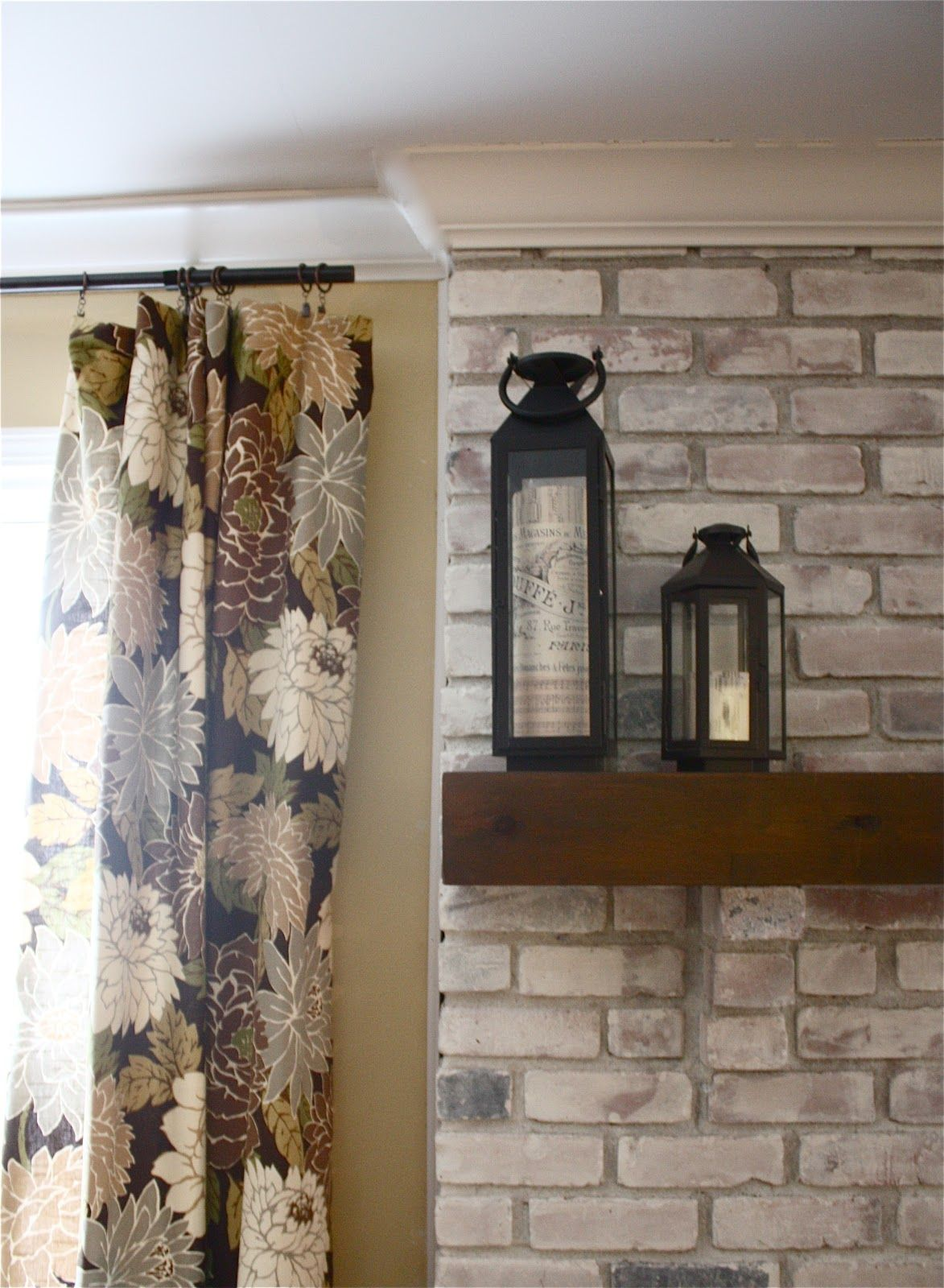 The Yellow Cape Cod White Washed Brick FireplaceTutorial