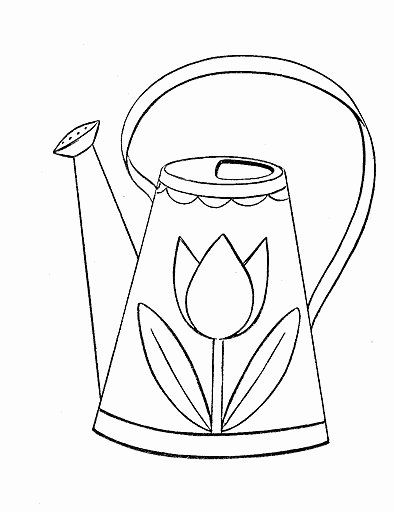 Watering Can Coloring Page Inspirational Watering Can Coloring In