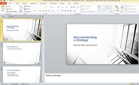free-business-strategy-template-for-powerpoint-2013-1 | powerpoint, Modern powerpoint
