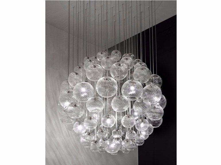 Lampada a sospensione in vetro soffiato OTO SP SPH Collezione Oto by Vetreria…