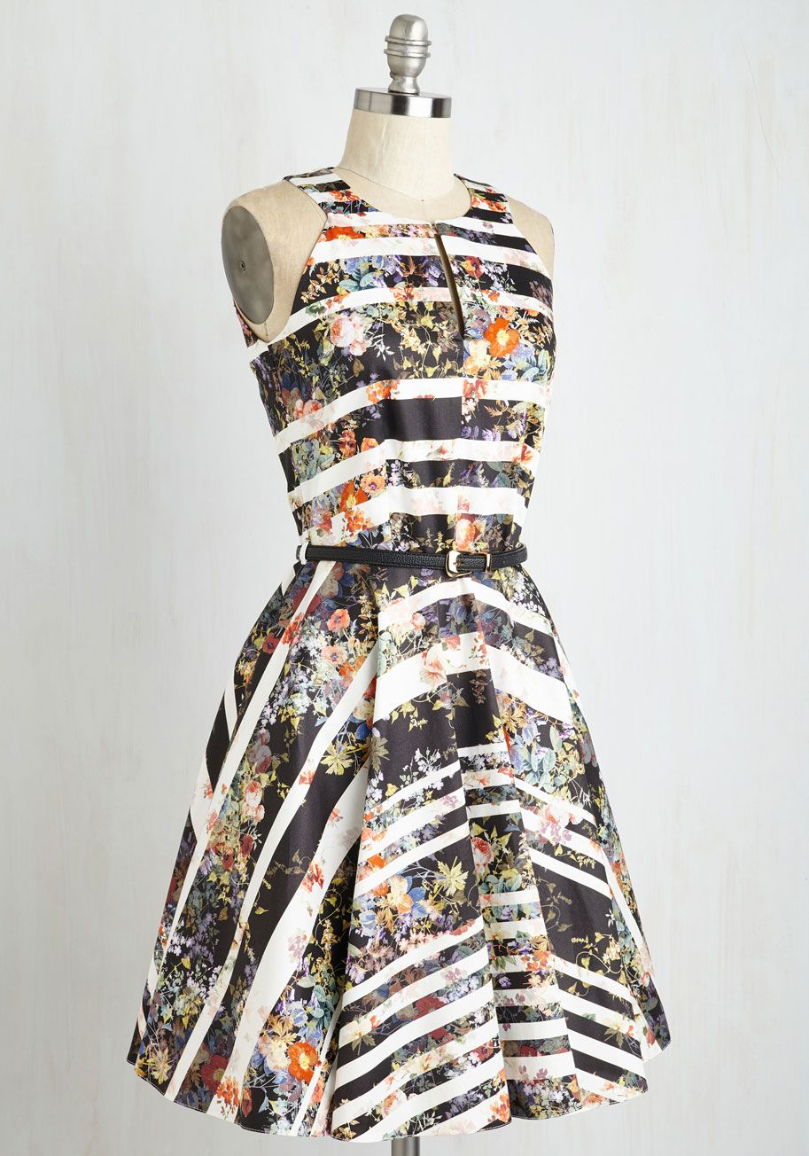 Better Loam and Gardens Dress. Youve tilled the soil, planted the perennials and now, wearing this floral dress by Closet London, youre ready for a grand garden party! #multi #modcloth