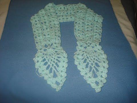 Patrones Crochet, Manualidades y Reciclado: COMO TEJER UNA BUFANDA ...