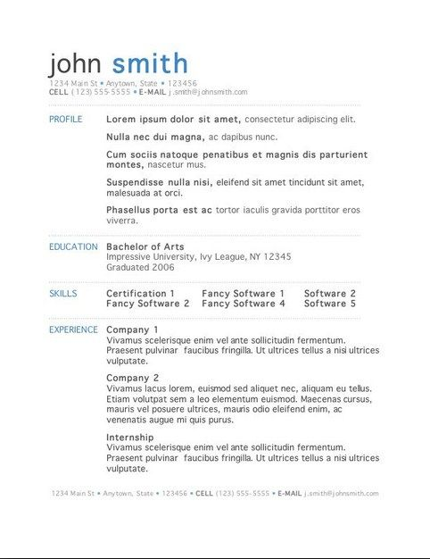 It Resume Adorable Best It Resume Templates  Simple Resume Template  Pinterest  Template
