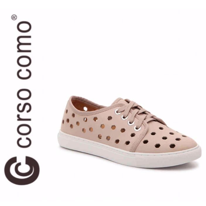 Corso Como Schuhe   Neue Corsica Como Rasta Fashion Sneakers   Farbe: Creme / Pink   ... -