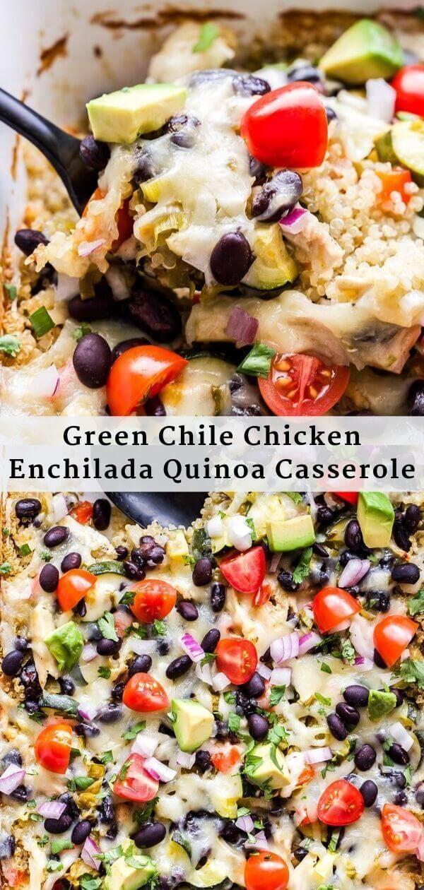 enchiladas Instapot enchiladas Sides This Green Chile Chicken Enchilada Quinoa Casserole will remind you of your favorite green chile enchiladas Its an easy to make healt...