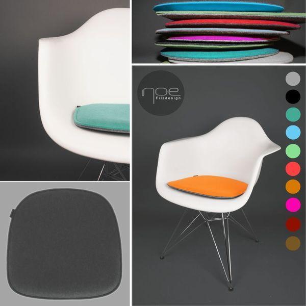 Filz Sitzkissen geeignet für Eames Armchair von Noe Filzdesign auf - esszimmer dodenhof