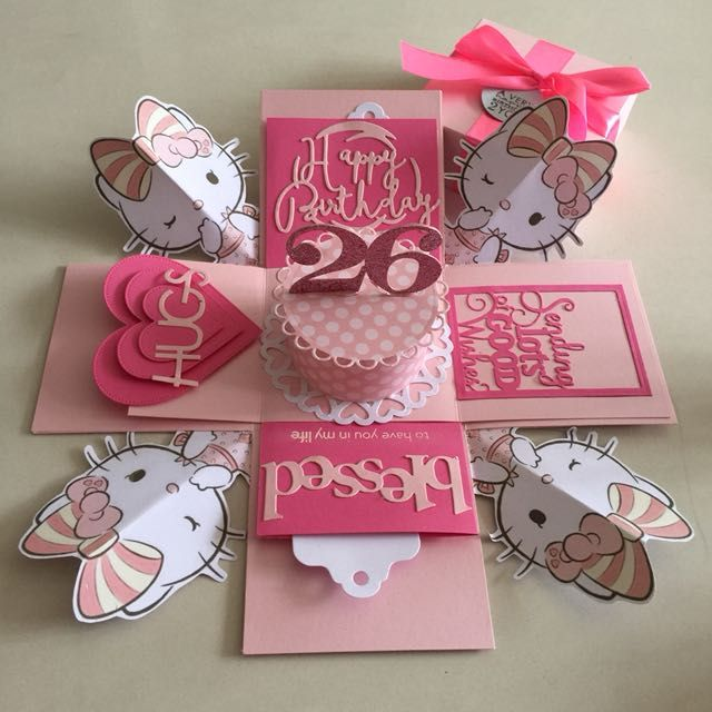 d111100be9 Buy Hello kitty explosion Box With Cake  amp  4 Personalized Photos in pink  in Singapore