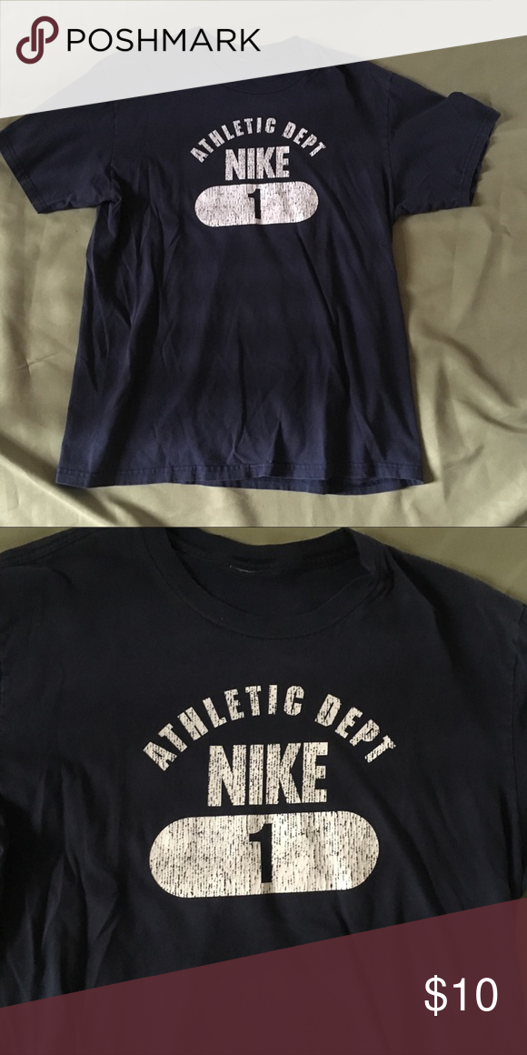 2e95e6fbe0a9d Distressed NIKE Tee T-shirt Men's XL Faded Total length measures apx ...