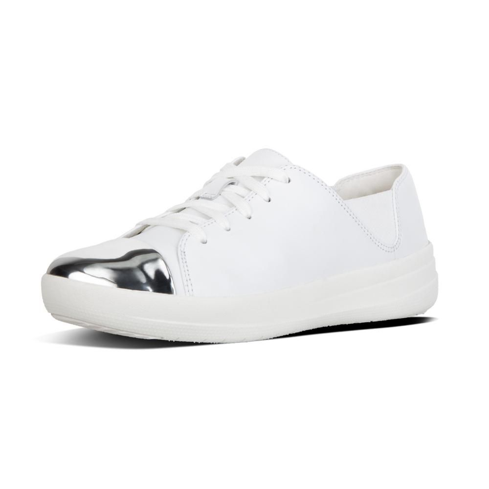 cc63a4a42 F-SPORTY MIRROR TOE SNEAKERS URBAN WHITE LEATHER · FitflopLeather  SneakersWhite LeatherLace UpSportyMirrorsFootwearShoeMirror