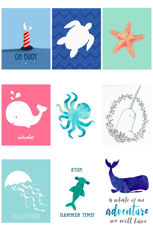 Free Ocean Printables Free Printable Ocean Art For Kids Narwhal