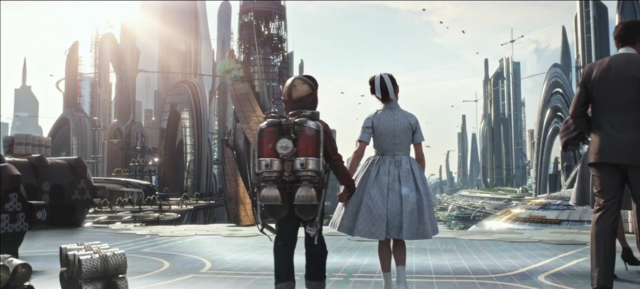 Cute Picture Of Young Frank Walker Thomas Robinson And Athena Raffey Cassidy In Disney S Tomorrowland Ac Tomorrowland Film Tomorrowland Movie Tomorrowland