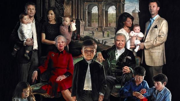 The members of the Danish royal family in the infamous