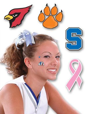 School Spirit Tattoos Boosters Has The Best Selection Temporary Face Tattoos Dance Hairstyles Face Tattoos