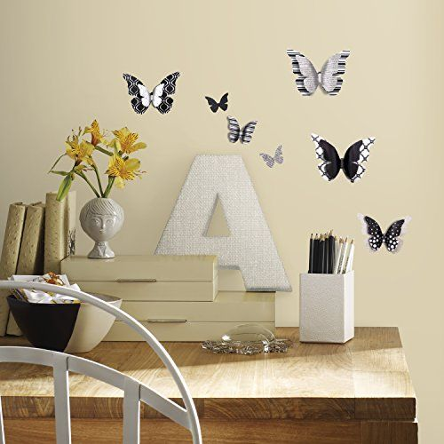 Roommates rmk2996scs 3d butterflies peel and stick wall decals want additional info click
