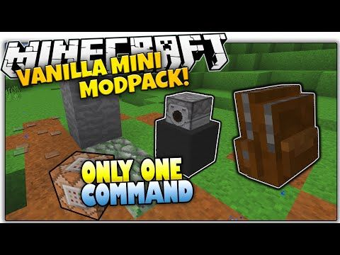 Furniture In Minecraft | NO MODS! | Only One Command Block (One