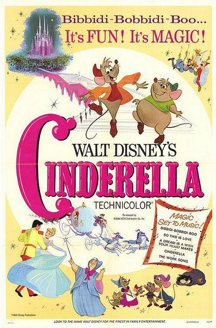 Cinderella Walt Disney #21 cartoon movie poster print