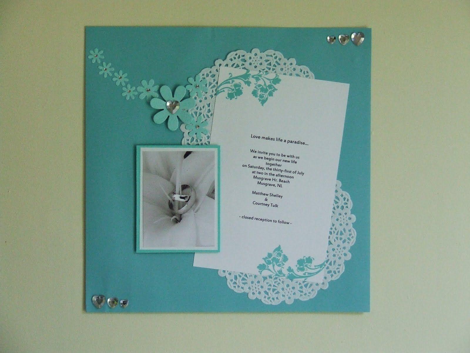 the Little Scrapper: Wedding Scrapbook...great way to display ...