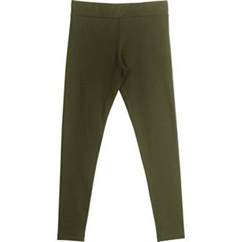 0d24b0c8d38d49 Matty M Ladies¡¯ Legging, Thicker Material, Wide Waist Band Xsmall, army
