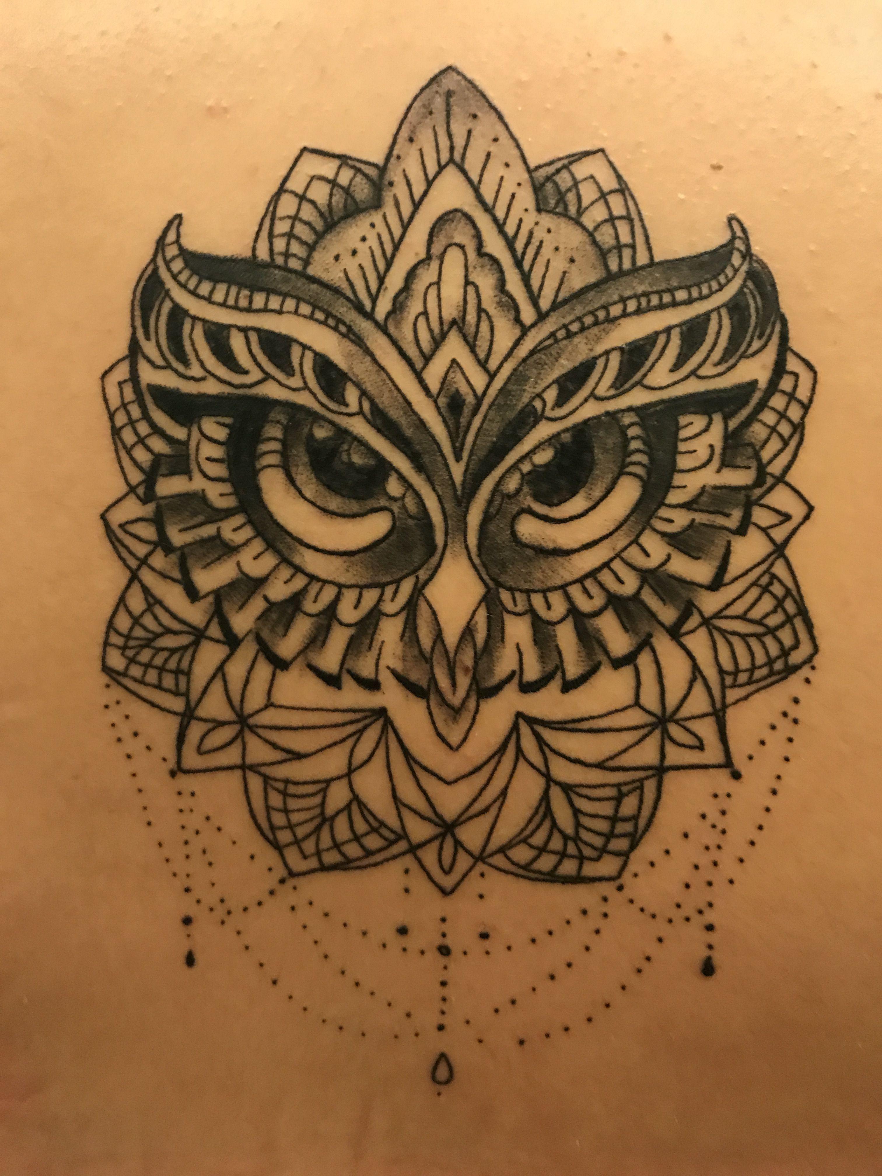 owl mandala tattoo   t a t t o o ♡  pinterest  tattoo