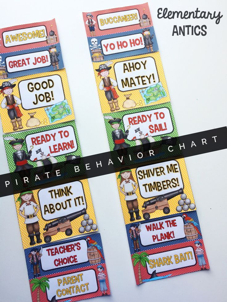 "Have a pirate theme classroom this year? Manage classroom behavior with this cute themed chart! There are two versions- the ""pirate"" version and the good 'ol regular version. There are 3 levels above and below ""Ready to Learn""."