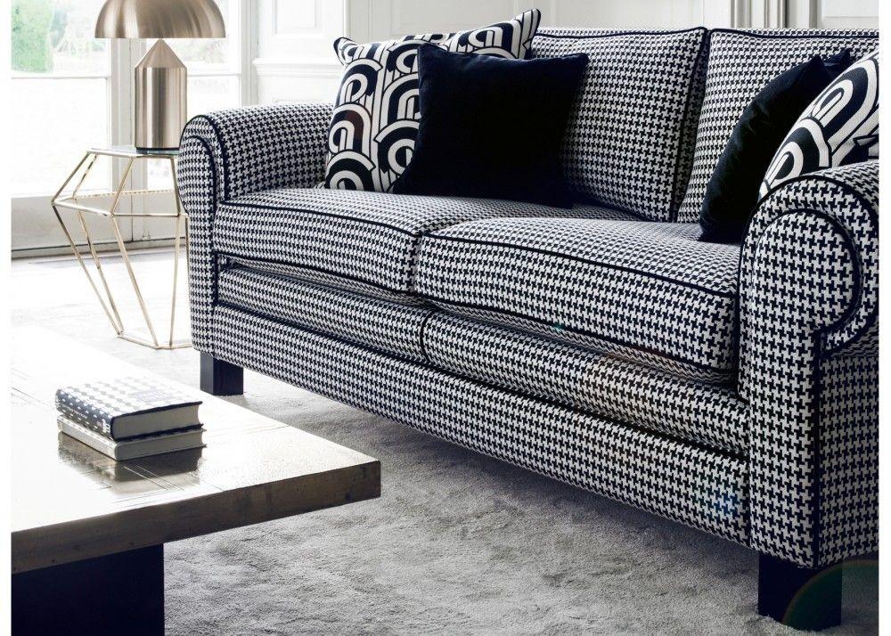 Astonishing Duresta Coco Black And White Sofa Luxury Taskers Bralicious Painted Fabric Chair Ideas Braliciousco