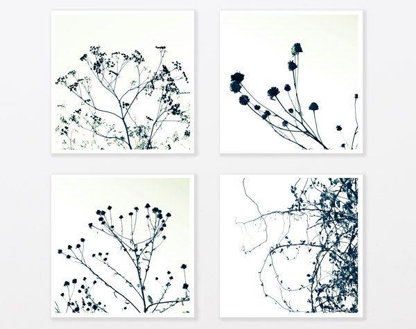 Bathroom Zen Art tree photo print set 8x8 zen art botanicals black and white photos