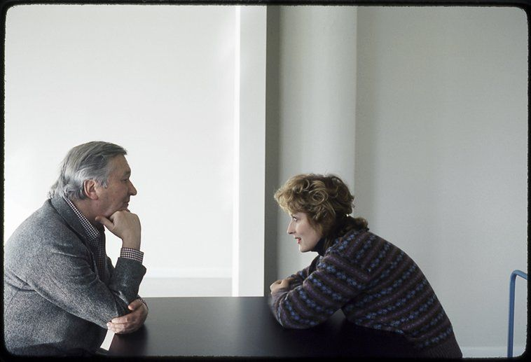Meryl Streep with William Styron, the writer of Sophie's Choice, 1983 Photo by Brigitte Lacombe