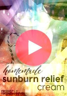 sunburn relief asap In minutes you can whip up this homemade sunburn relief cream Simply combine organic coconut oil aloe vera gel and lavender and peppermint essential o...