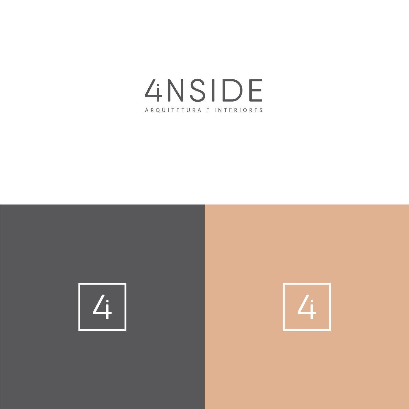 4inside Design De Interiores E Arquitetura Logo E Identidade